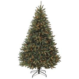 7' Blue Spruce Christmas Tree, with 500 Clear Lights thumb