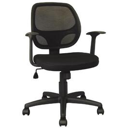 Black Mesh Back Junior Office Chair, with Upholstered Seat thumb