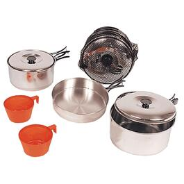 Stainless Steel 2 Person Cooking Camp Set thumb