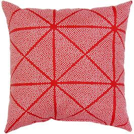 "16"" Square Red Geo Tile Throw Pillow thumb"