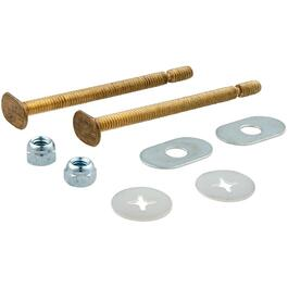 "1/4"" x 3-1/2"" Snap Off Solid Brass Toilet Bolt Set thumb"