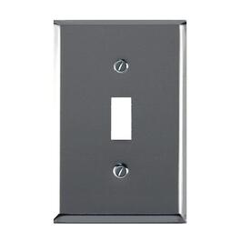 Deluxe Chrome 1 Toggle Switch Plate thumb