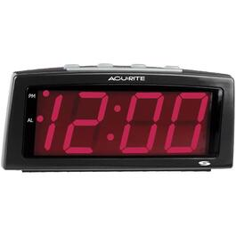 "Electric Black 2"" Red LED Display Automatic Alarm Clock thumb"