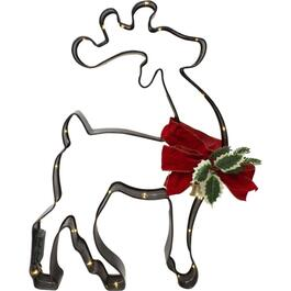 "28"" Cookie Cutter Reindeer Lit Frame, with 36 Lights thumb"