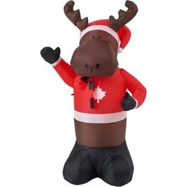 6' Outdoor Inflatable Airblown Reindeer Figure thumb