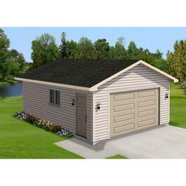 Aluminum Gutter Option Package, for 12' x 20' and 14' x 20' Garages thumb