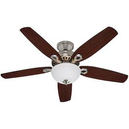 "Dewfield 52"" 5 Blade Brushed Nickel Ceiling Fan with Light thumb"