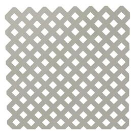 4' x 8' Grey Classic Ultra Light Vinyl Lattice thumb