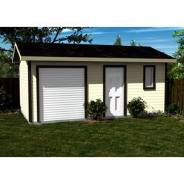 Vinyl Siding Option Package, for 20' x 12' Side Entry Gable Shed thumb