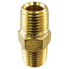 "3/8"" Brass Hex Pipe Nipple thumb"
