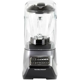 950 Watt 5 Speed Silver Blender, with Glass Jar and Sound Shield thumb