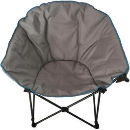 Grey Adult Camping Chair, with Wine Glass Holder thumb