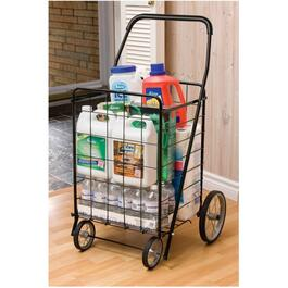 "24-1/2"" x 20-3/4"" x 40"" Large 4 Wheel Shopping Cart, Assorted Colours thumb"