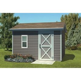12' x 12' Side Entry Gable Shed Package, with Double Ply Siding thumb