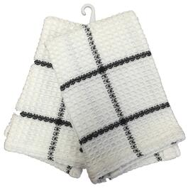 "2 Pack 14"" x 14"" Black and White Waffle Dish Cloths thumb"