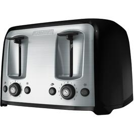 4 Slice Black/Stainless Steel Toaster, with Extra Wide Slots thumb