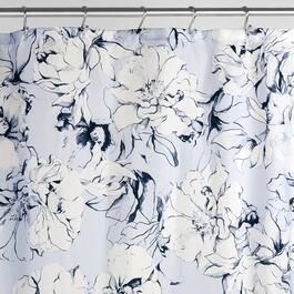 "72"" x 72"" Floral Blue Chalk Polyester Shower Curtain thumb"