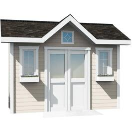 12' x 10' Side Entry Corner Gable Shed Package, with Vinyl Siding thumb