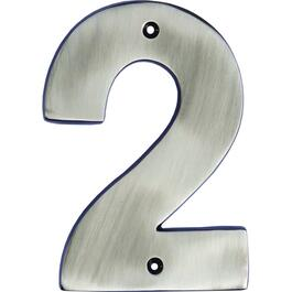 "5"" Antique Nickel '2' House Number thumb"