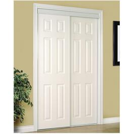 "48"" x 80"" White Embossed Sliding Door thumb"