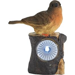 "4"" Solar Polyresin Bird Garden Statue, Assorted Designs thumb"