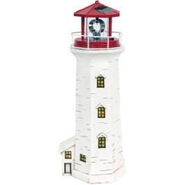 "16"" Solar Peggy's Cove Lighthouse Garden Statue thumb"