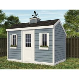 12' x 8' Basic Gable Shed Package, with Salt Box Roof and Decorative Plywood thumb