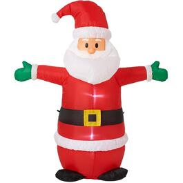 4' Outdoor Inflatable Airblown Standing Santa, with LED Light thumb