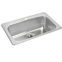 "31 1/2"" x 20 7/8"" x 8"" Stainless Steel Single Drop In Kitchen Sink thumb"
