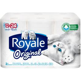 12 Double Rolls 253 Sheet 2 Ply Toilet Tissue thumb