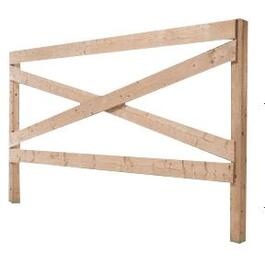 4' Spruce Sanded Four Sides Post & Rail Fence Package thumb