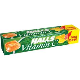 9 Piece Vitamin C Citrus Centre Halls Cough Drops thumb