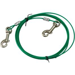 10' Light Duty Tie-Out Dog Cable, for Dogs Up to 28lbs thumb