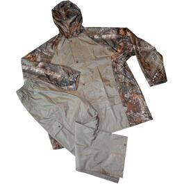 2 Piece Men's Extra Large Camo Polyester Rain Suit thumb
