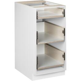 "15"" 3-Drawer White Knockdown Base Cabinet thumb"