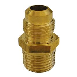 "3/8"" Flare x 1/4"" Male Pipe Thread Brass Connector thumb"