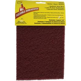 "2 Pack 6"" x 9"" Medium Steel Wool Sanding Pads thumb"
