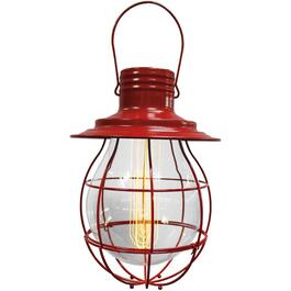 "10"" Red Hanging Battery Operated Retro Pendant Light thumb"