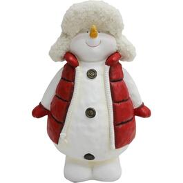 "18"" Resin Snowman Decor, With Vest and Hat thumb"