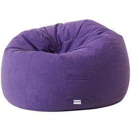 Purple Faux Suede Beanbag Chair thumb