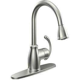 Rachel Pull Down Kitchen Faucet with Spring Spout Chrome Signature Hardware