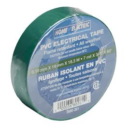 "7mil x 3/4"" x 60' CSA Approved  PVC Green Electrical Tape thumb"
