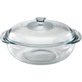 2 Quart Glass Casserole Dish, with Cover thumb