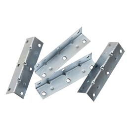 "4 Pack 3-1/2"" Zinc Corner Braces thumb"