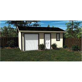 20' x 12' Side Entry Gable Shed Package, with Vinyl Siding thumb