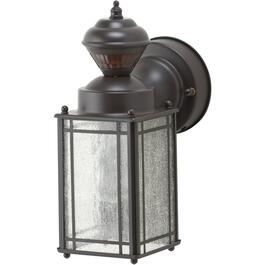 Mission Oil Rubbed Bronze Outdoor Coach Light Fixture with 150 Degree Motion Sensor thumb