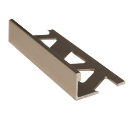"1/2"" x 8' Titanium Aluminum Tile Edging thumb"