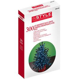 300 LED Blue Dot Light Set, with Green Wire thumb