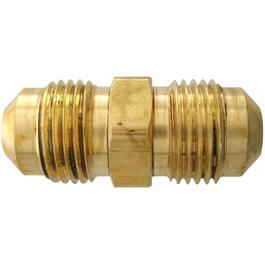 "1/4"" Double End Male Pipe Thread Brass Flare Union thumb"