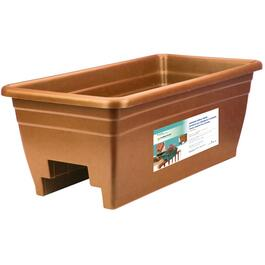 "24"" Terra Cotta Deck Railing Planter thumb"